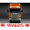 Wales truck screen and lightbox stickers