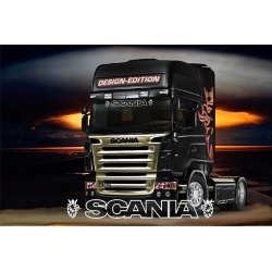 Hollow scania text