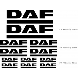 sticker sheet for daf trucks