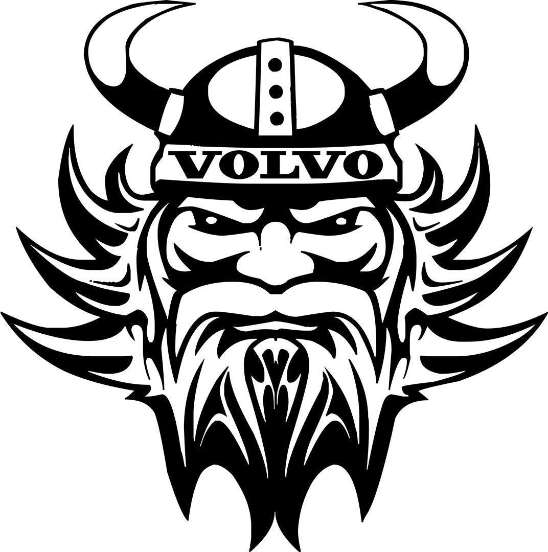 Volvo Viking Vinyl Decal Sticker Trucks Walls Glass